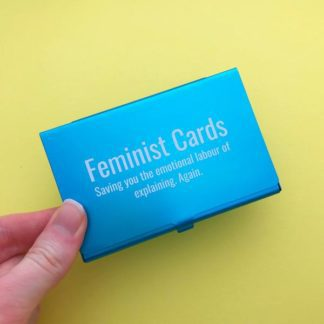 HOYFC Feminist Cards (Pack of 8 with Card Holder)w