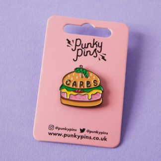 Carbs Burger Enamel Pin