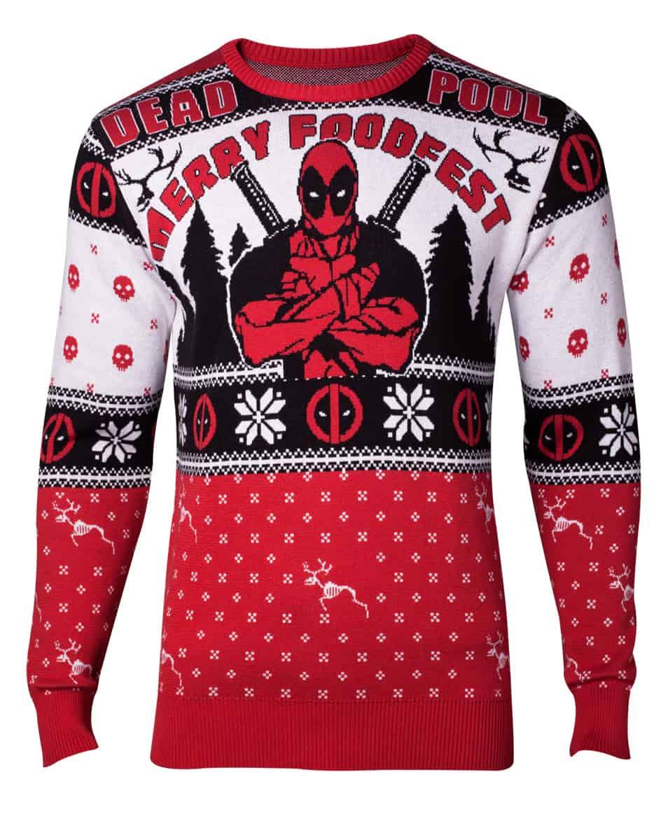 Kersttrui Utrecht.Pre Order Only Marvel Deadpool Knitted Christmas Sweater