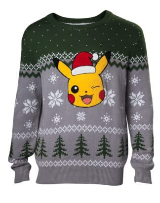 Pre-order only! Pokemon – Pikachu Application Knitted Sweater