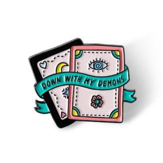 Tarot Card Demons Enamel Pin