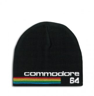 Commodore – 64 – Logo – knitted hat – embroided – black