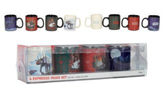 Star Wars The Last Jed 4 Espresso Christmas Mugs Set