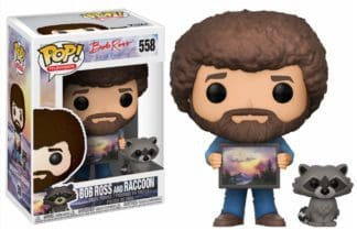 Funko! POP! Television Joy Of Painting Series 2 – Bob Ross and Raccoon Vinyl Figure 10cm