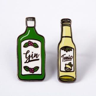 Gin and Tonic Enamel Pin Set