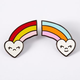 Happy Sad Rainbows Enamel Pin Set