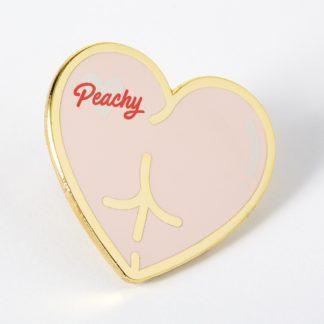 Peachy Bum Enamel Pin
