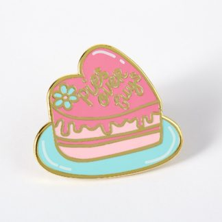 Pies over Guys Enamel Pin