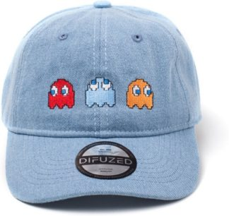 Pac-man – 2D Embroidery Stone Washed Denim Dad Cap