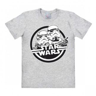 Star Wars – Stormtrooper – T-Shirt Easy Fit – grey melange