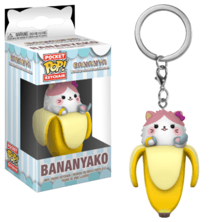 Funko Pocket POP! Bananya Keychain – Bananyako Vinyl Figure 4cm