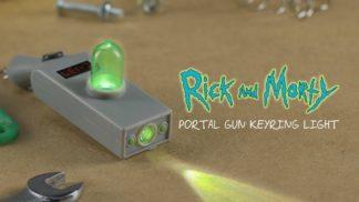 Rick and Morty Portal Gun Keyring Light