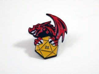 Dungeons & Dragons Dragon with D20 Enamel Pin